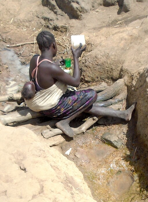 Link to Progress_Lack of safe water. There is still need for safe water sources in Uganda, over 23 million people still have no access to safe water