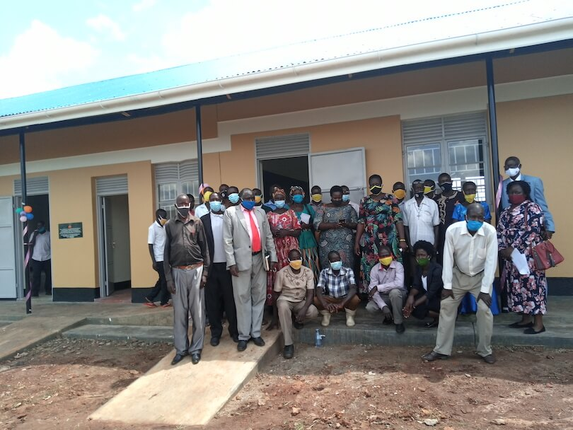 Link to Progress | commissions a 4 classroom block at Amido Primary school in Oyam district